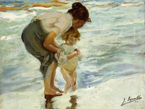 On the Beach, 1908 by Joaqu?n Sorolla y Bastida