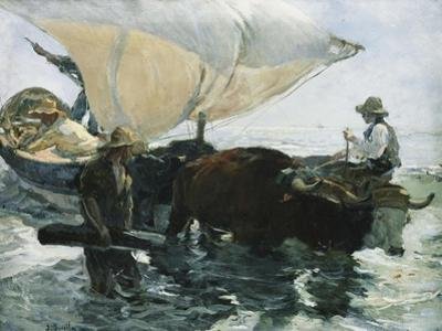 The Return from Fishing by Joaqu?n Sorolla y Bastida