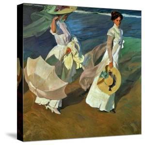 Walk on the Beach, 1909 by Joaqu?n Sorolla y Bastida