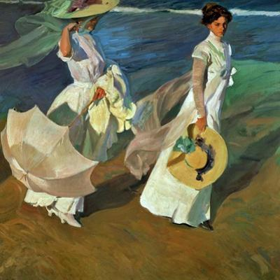 Walk on the Beach, 1909 by Joaqu?n Sorolla y Bastida