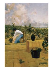 Grapeharvest in Sitges by Joaquim de Miro y Argenter