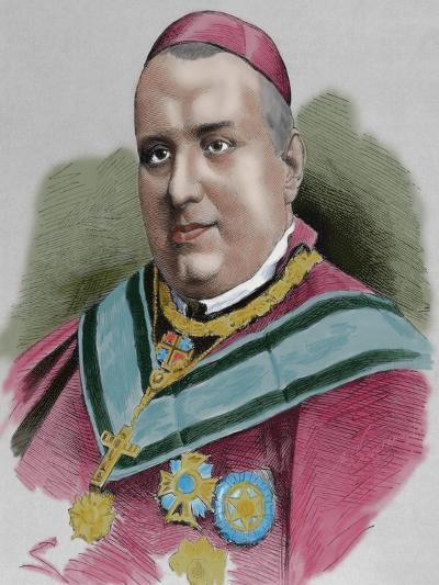 Joaquim Lluch I Garriga (1816-1882). Catholic Priest, Bishop and Cardinal Spanish--Giclee Print