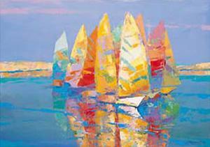 Boat Race I by Joaquin Moragues