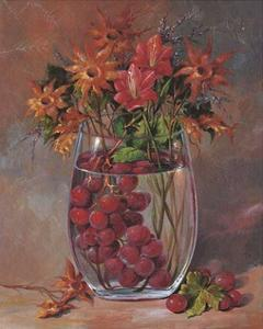 Flowers & Fruits III by Joaquin Moragues