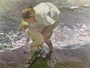 Bathing on the Beach, 1908 by Joaquín Sorolla y Bastida