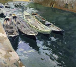 Boats at Rest by Joaquín Sorolla y Bastida
