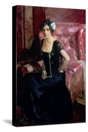 Clotilde in an Evening Dress
