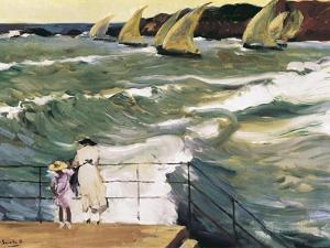 Departure of Boats by Joaquín Sorolla y Bastida