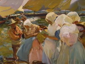 Fischerwomen on the Beach, 1903 by Joaquín Sorolla y Bastida