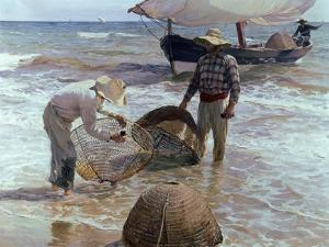Fishermen From Valencia, 1895, Spanish School by Joaquín Sorolla y Bastida