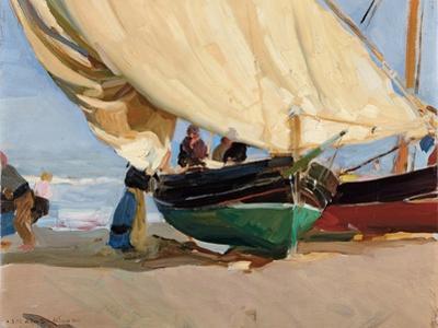 Fishermen, Stranded Boats, Valencia; Pescadores, Barcas Varadas, Valencia