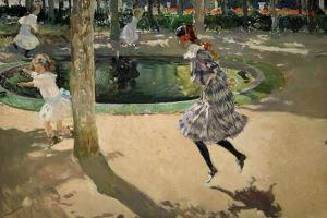 Girls with Skipping Ropes. Saltando a La Comba, 1907 by Joaquín Sorolla y Bastida