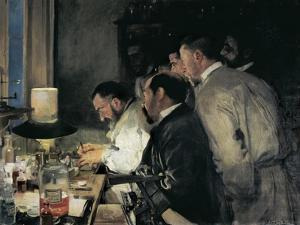 Investigation or Doctor Simarro at His Laboratory by Joaquín Sorolla y Bastida