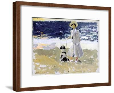 Lady and Dog on the Beach, 1906