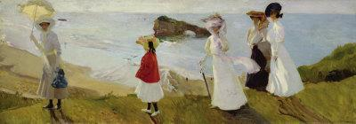 Lighthouse Walk at Biarritz, c.1906