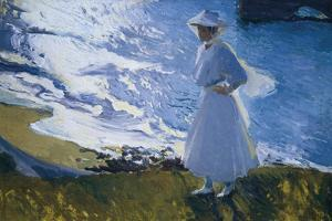 Maria at the Beach, Biarritz by Joaquín Sorolla y Bastida