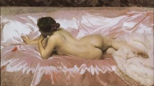 Nude of Woman by Joaquín Sorolla y Bastida