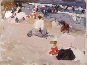 People Sitting on the Beach, 1906 by Joaquín Sorolla y Bastida