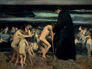 Sad Inheritance by Joaquín Sorolla y Bastida