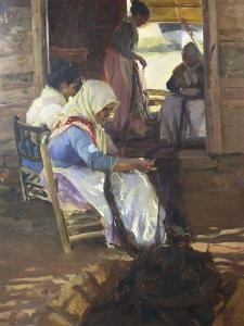 Sewing of Nets, 1901 by Joaquín Sorolla y Bastida
