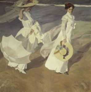 Stroll to the Edge of the Sea by Joaquín Sorolla y Bastida