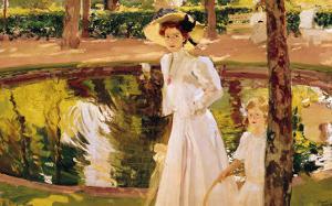 The Garden, 1913 by Joaquín Sorolla y Bastida