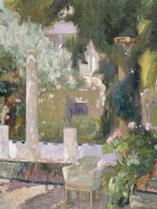 The Gardens at the Sorolla Family House, 1920 by Joaquin Sorolla y Bastida