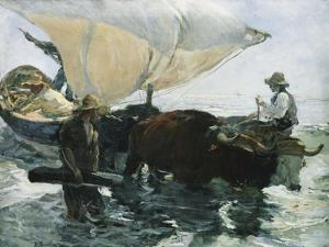 The Return from Fishing by Joaquín Sorolla y Bastida