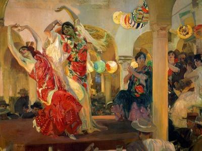 Women Dancing Flamenco at the Café Novedades in Seville, 1914