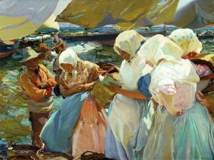 Women of Valencia At the Beach, 1915 by Joaquín Sorolla y Bastida