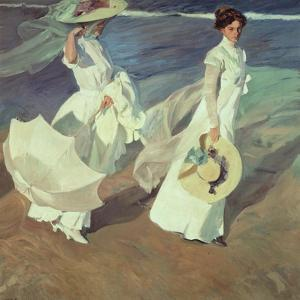 Women Walking on the Beach, 1909 by Joaquín Sorolla y Bastida