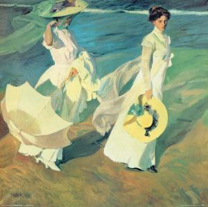 Women Walking on the Beach by Joaquín Sorolla y Bastida