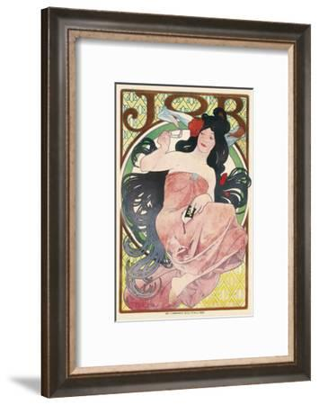 Job Cigarette Paper-Alphonse Mucha-Framed Premium Giclee Print