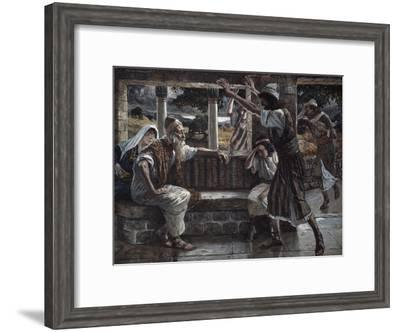 Job Hears Bad Tidings-James Tissot-Framed Giclee Print