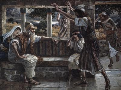Job Hears Bad Tidings-James Jacques Joseph Tissot-Giclee Print