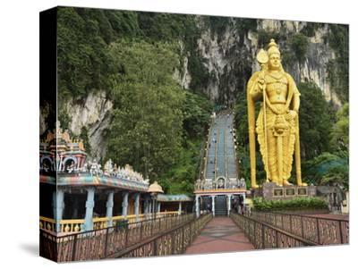 Batu Caves, Hindu Shrine, With Statue of Lord Muruguan, Selangor, Malaysia, Southeast Asia, Asia