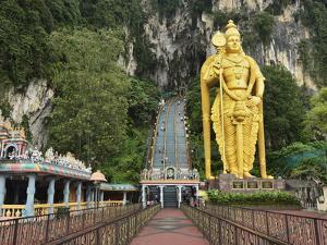 Batu Caves, Hindu Shrine, With Statue of Lord Muruguan, Selangor, Malaysia, Southeast Asia, Asia by Jochen Schlenker