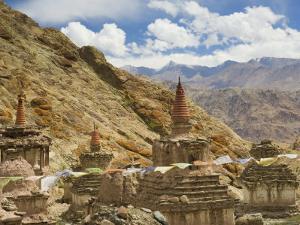 Chortens, Hemis Gompa (Monastery), Hemis, Ladakh, Indian Himalayas, India, Asia by Jochen Schlenker