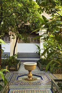 Fountain, Palais de la Bahia, Medina, Marrakesh, Morocco, North Africa, Africa by Jochen Schlenker