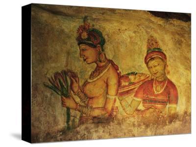 Frescoes, Sigiriya (Lion Rock), UNESCO World Heritage Site, Sri Lanka, Asia