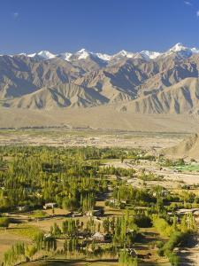 Indus Valley and Stok-Kangri Massif, Leh, Ladakh, Indian Himalayas, India, Asia by Jochen Schlenker