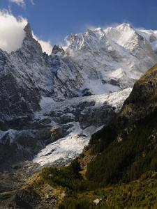 Monte Bianco (Mont Blanc) Seen from Vallee D'Aosta, Suedtirol, Italy, Europe by Jochen Schlenker