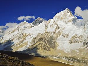 Mount Everest and Nuptse from Kala Patthar, Sagarmatha Natl Park, UNESCO World Heritage Site, Nepal by Jochen Schlenker