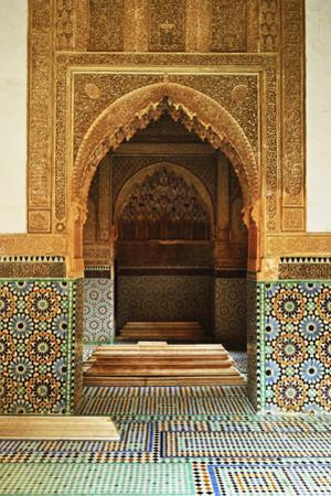 Saadian Tombs, Medina, Marrakesh, Morocco, North Africa, Africa by Jochen Schlenker