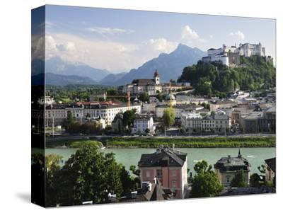 View of the Old Town and Fortress Hohensalzburg, Seen From Kapuzinerberg, Salzburg, Austria, Europe