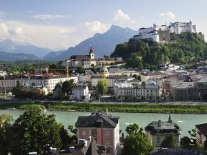View of the Old Town and Fortress Hohensalzburg, Seen From Kapuzinerberg, Salzburg, Austria, Europe by Jochen Schlenker