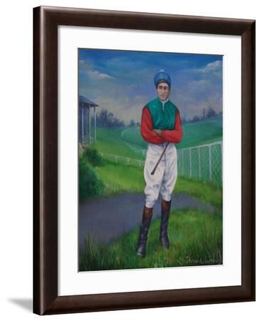 Jockey, Bill Smith Derby Winner, 1975-Bettina Shaw-Lawrence-Framed Giclee Print