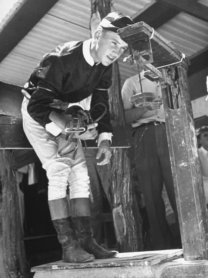 Jockey Weighing in at Race Track-Cornell Capa-Photographic Print
