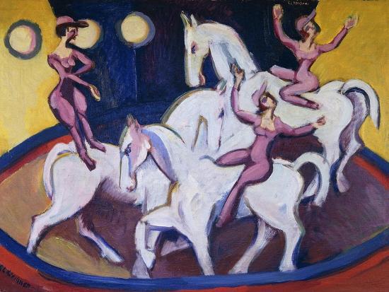 Jockeyakt-Ernst Ludwig Kirchner-Giclee Print