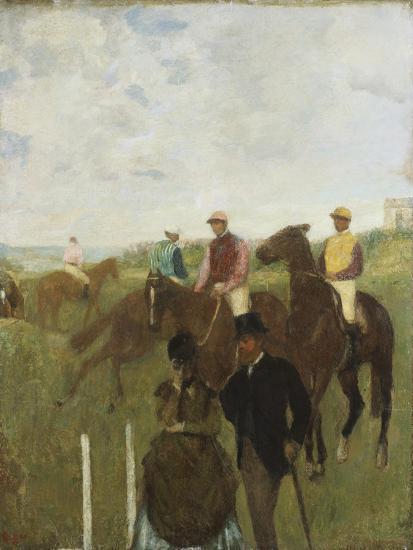 Jockeys at the Racecourse-Edgar Degas-Giclee Print